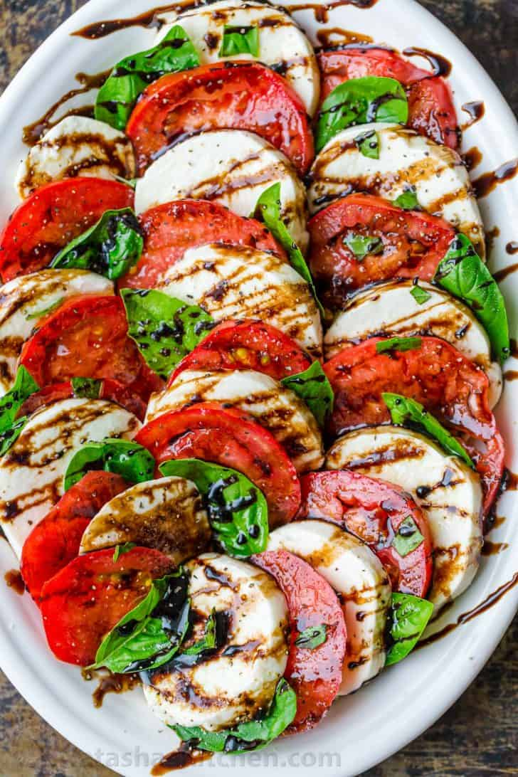 Balsamic Glaze on caprese salad