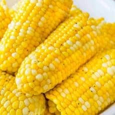 Instant pot cooked corn on the cob in a bowl