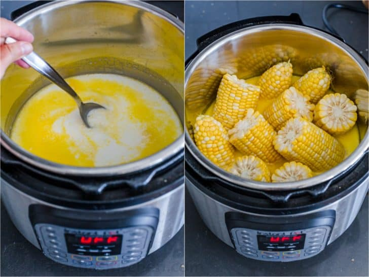 How to make instant pot corn on the cob with milk, butter and corn on the cob in instant pot