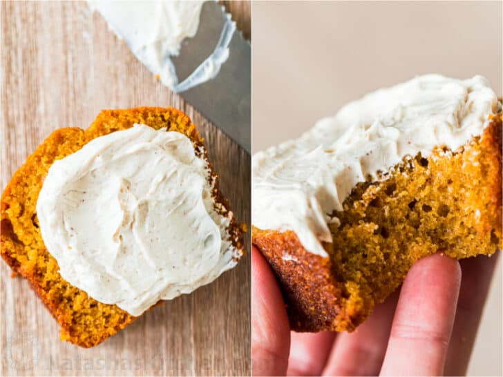 Sweet butter served on pumpkin bread
