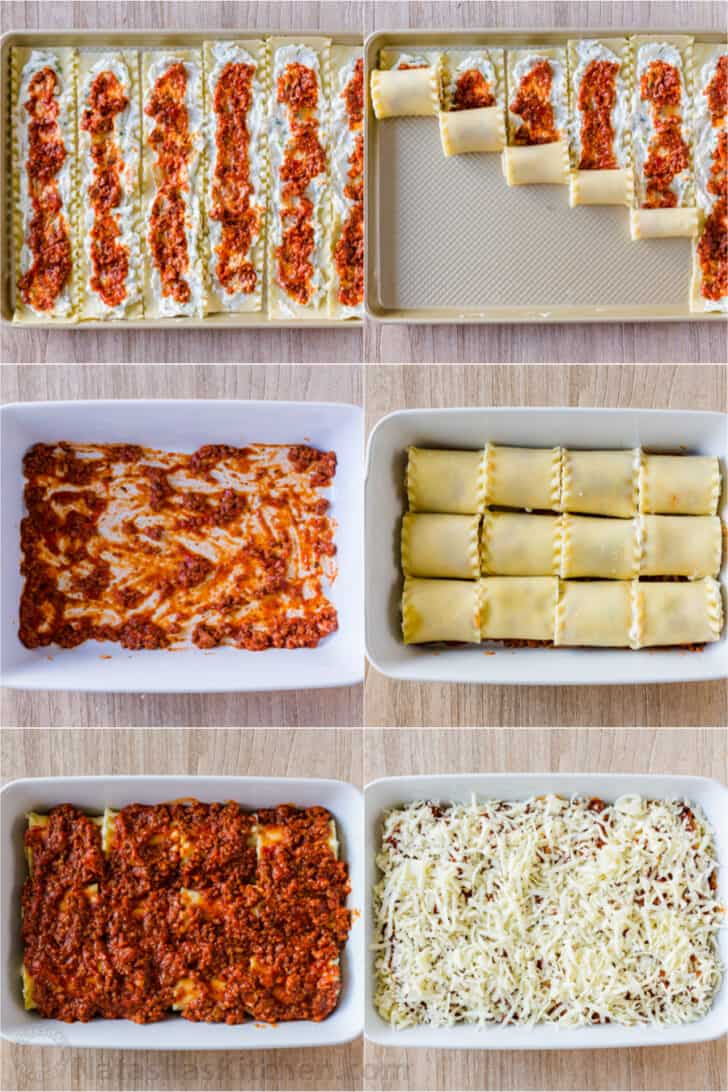Step by step how to make lasagna rolls