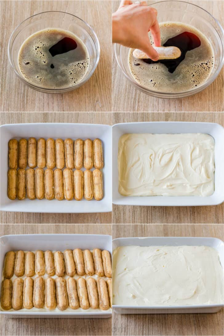Step by step photos how to make easy tiramisu cake