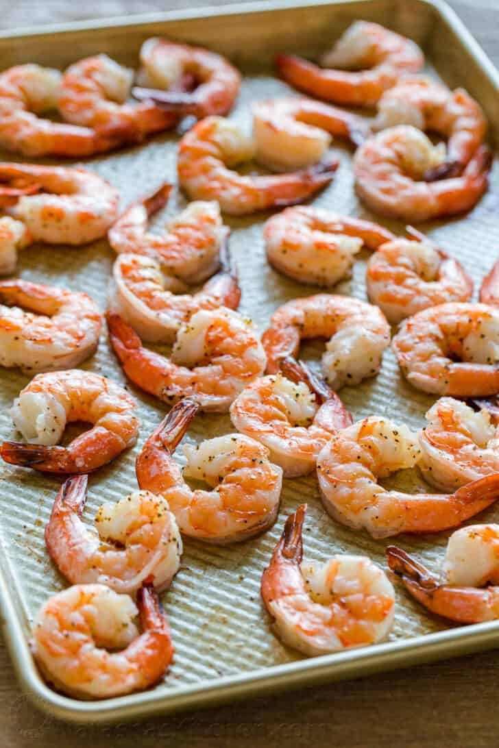 How to bake shrimp on a baking sheet in the oven