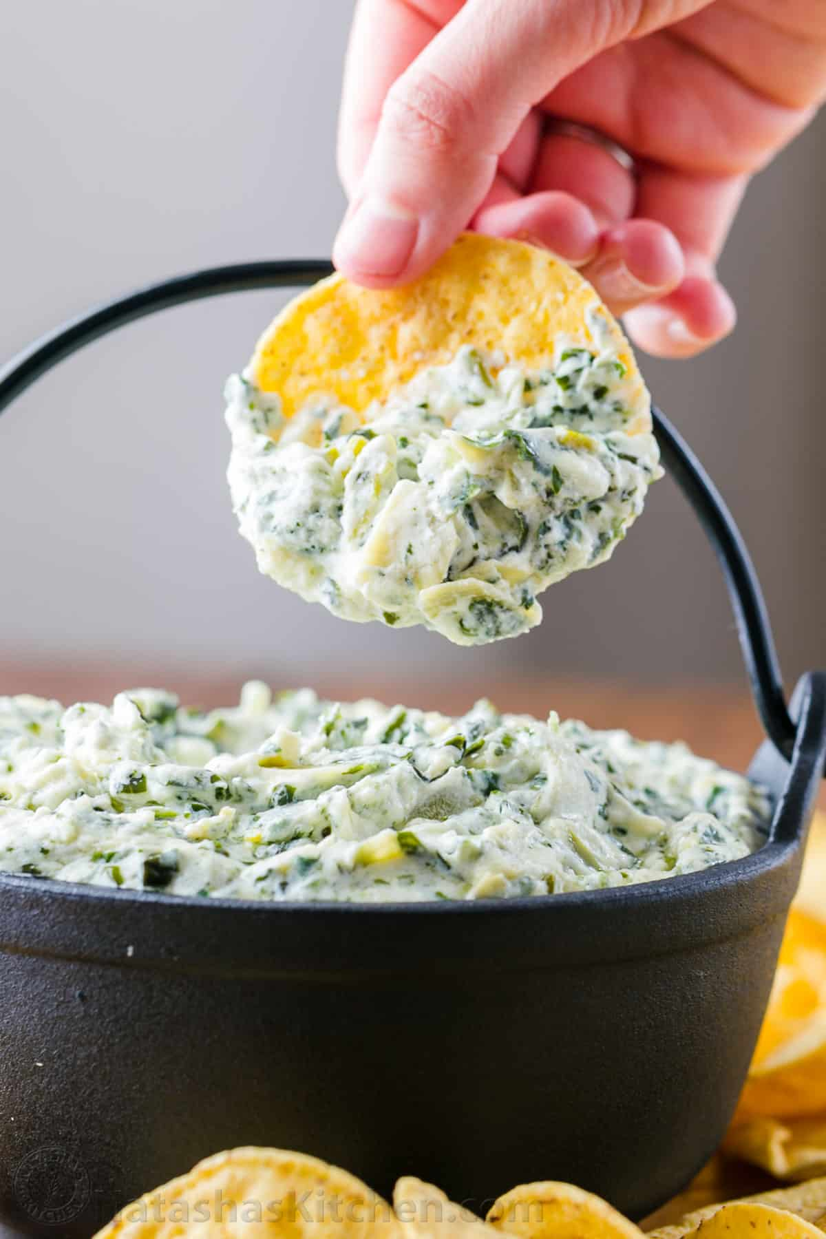 Spinach Artichoke Dip Recipe Video Natashaskitchen Com