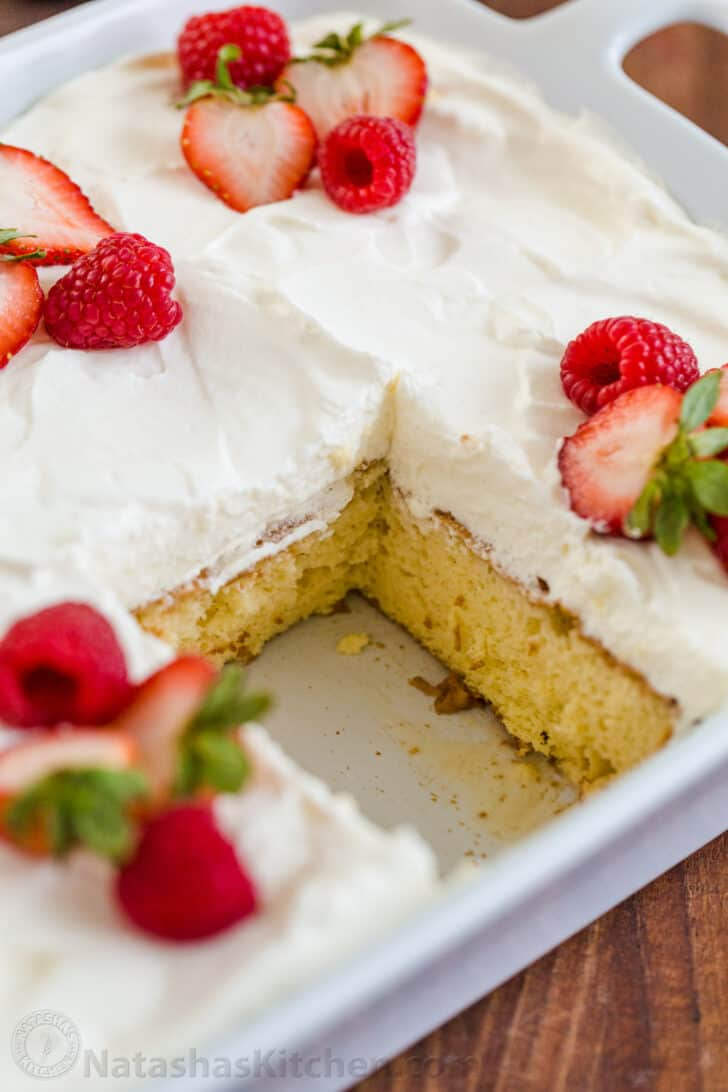 Superb Tres Leches Cake Recipe Video Natashaskitchen Com Funny Birthday Cards Online Alyptdamsfinfo