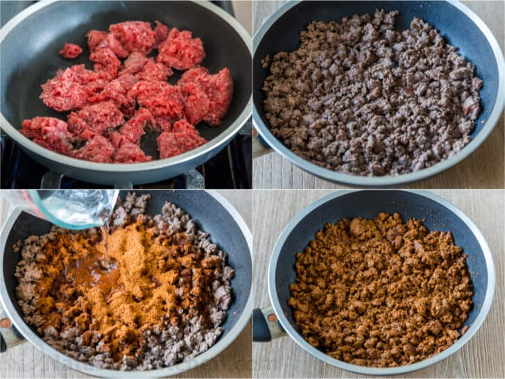 How to make ground beef taco meat step by step photos