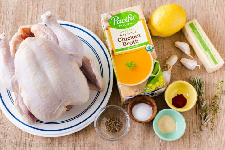 Ingredients for instant pot whole chicken recipe