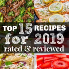 4 of the top 15 recipes for 2019