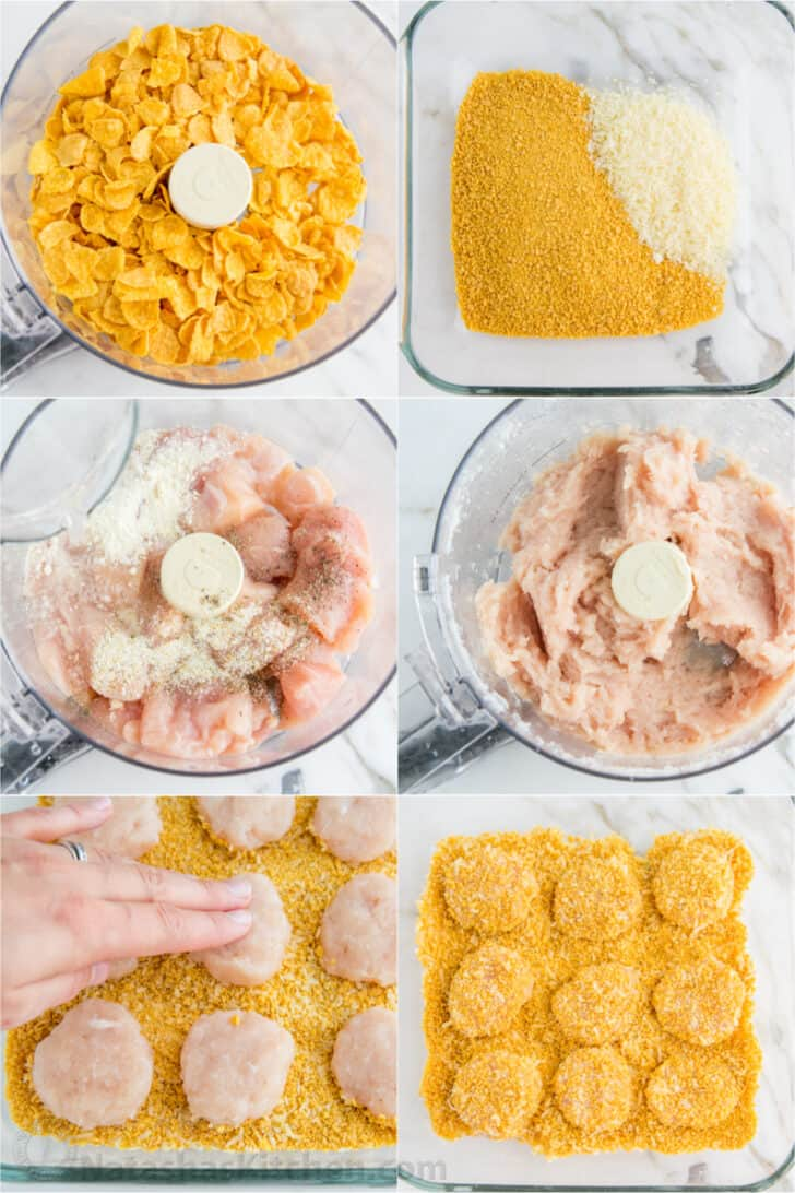 Step by step tutorial how to make chicken nuggets