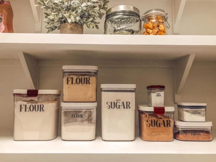 Organizing and storage containers for the pantry