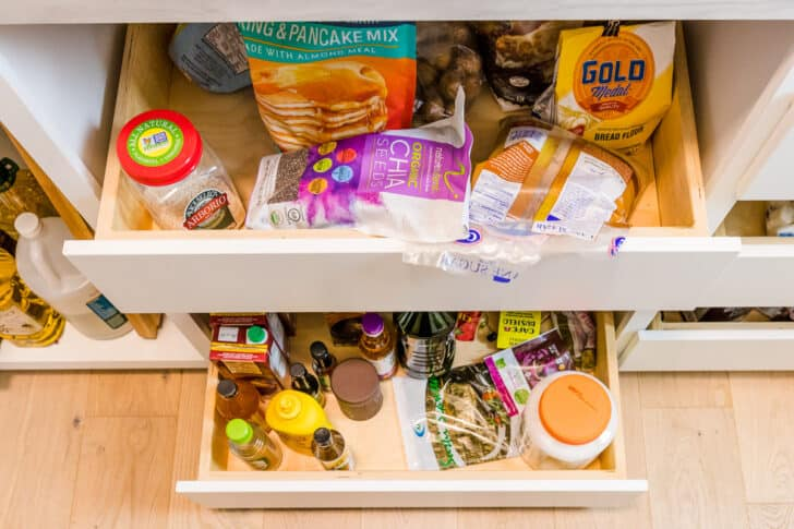Messy pantry drawers