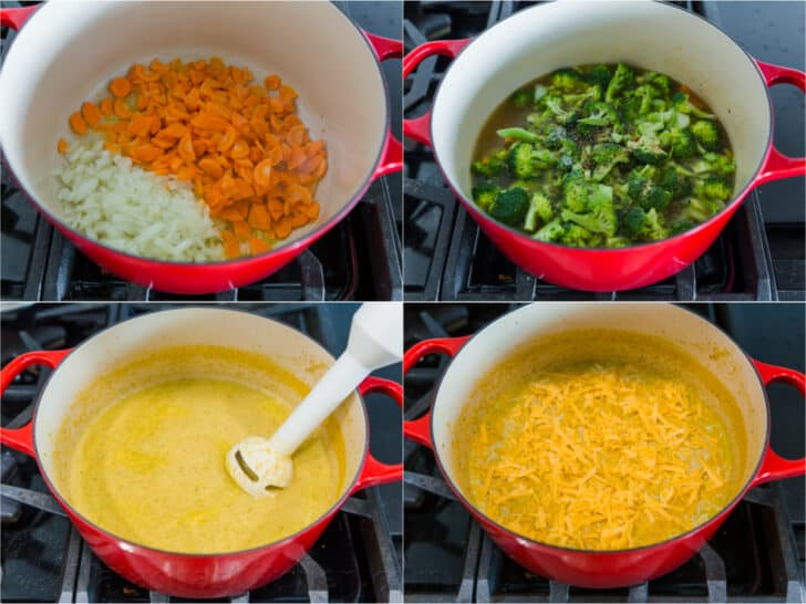 How to make broccoli and cheese soup step by step photos