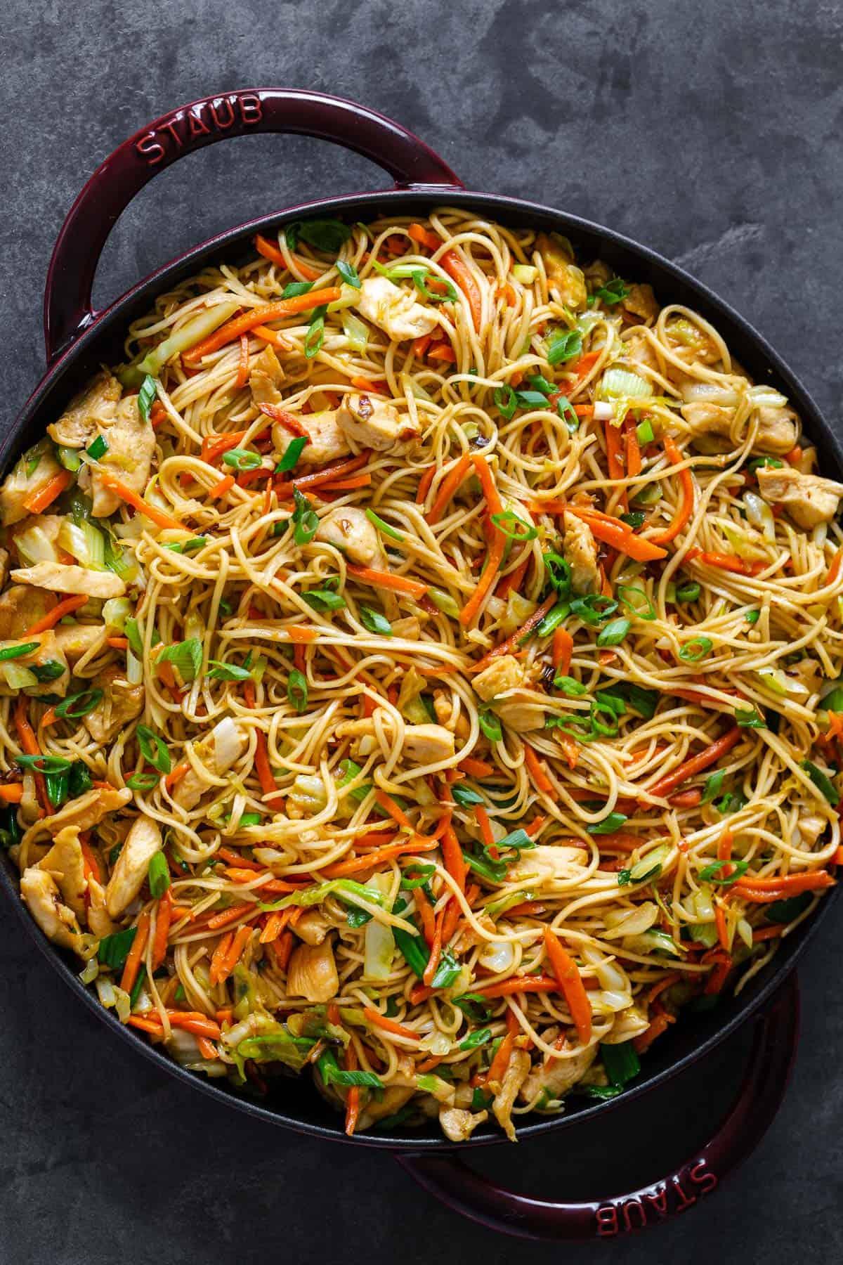 Chicken Chow Mein With Best Chow Mein Sauce Natashaskitchen Com