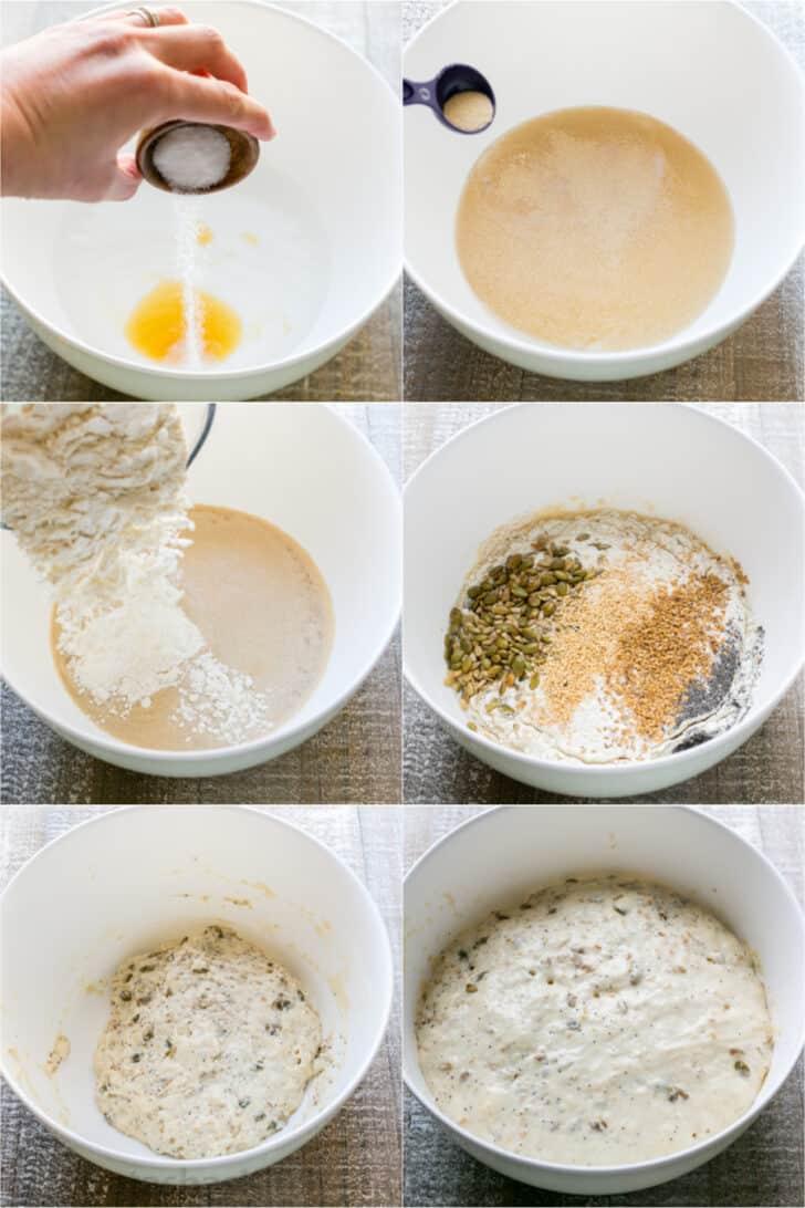 Dutch Oven Bread: Mixing the Dough