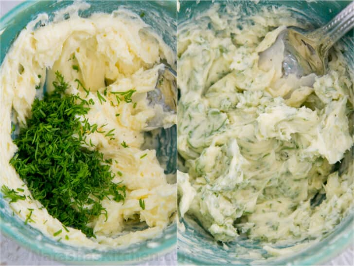 Butter ready to be creamed and turned into lemon dill butter for grilled corn on the cob
