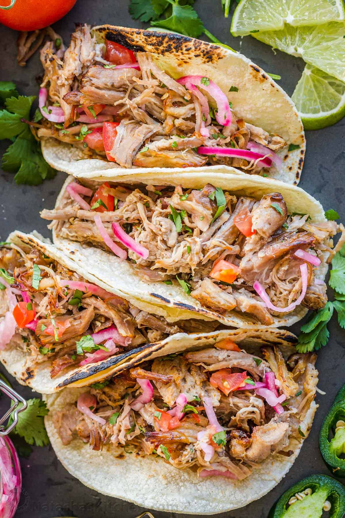 Easy Pork Carnitas Mexican Pulled Pork Natashaskitchen Com