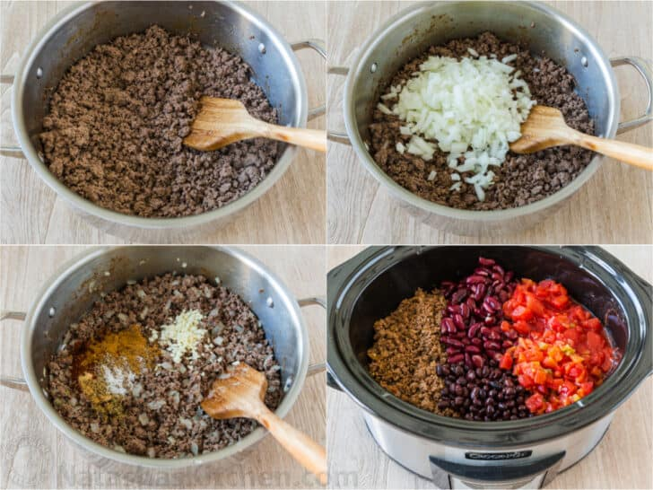 Making beef chili step by step tutorial
