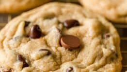 Chocolate Chip cookies on rack