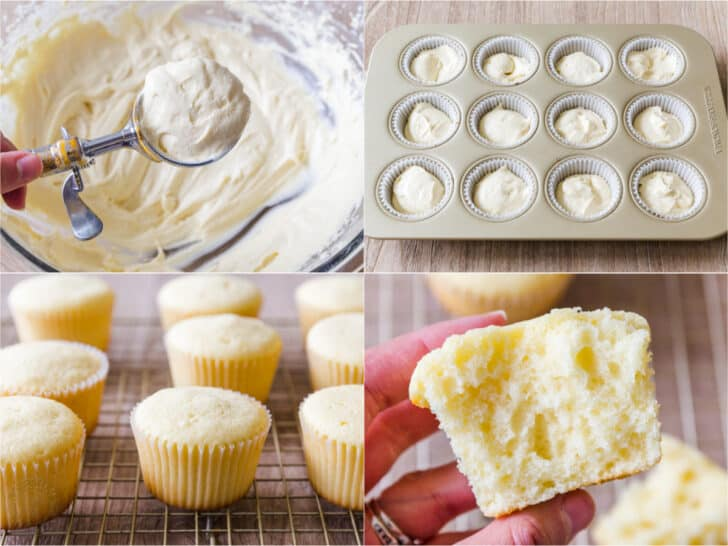 How to divide batter into cupcake tin for even rising cupcakes