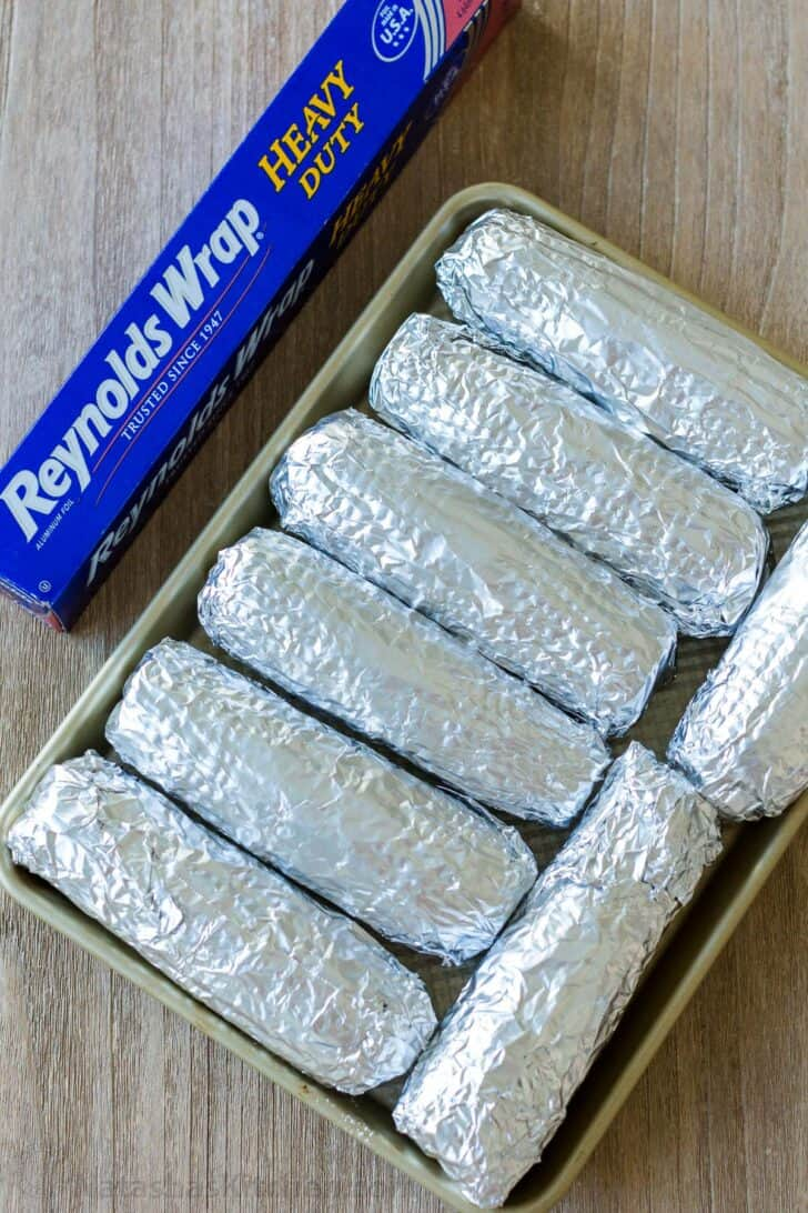foil wrapped corn