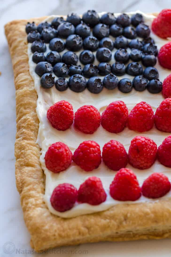 Berries on tart