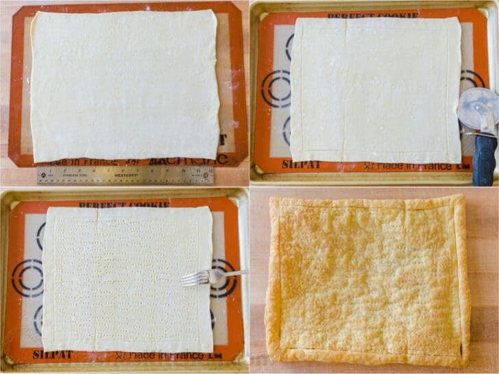 step by step how to prepare puff pastry for tart