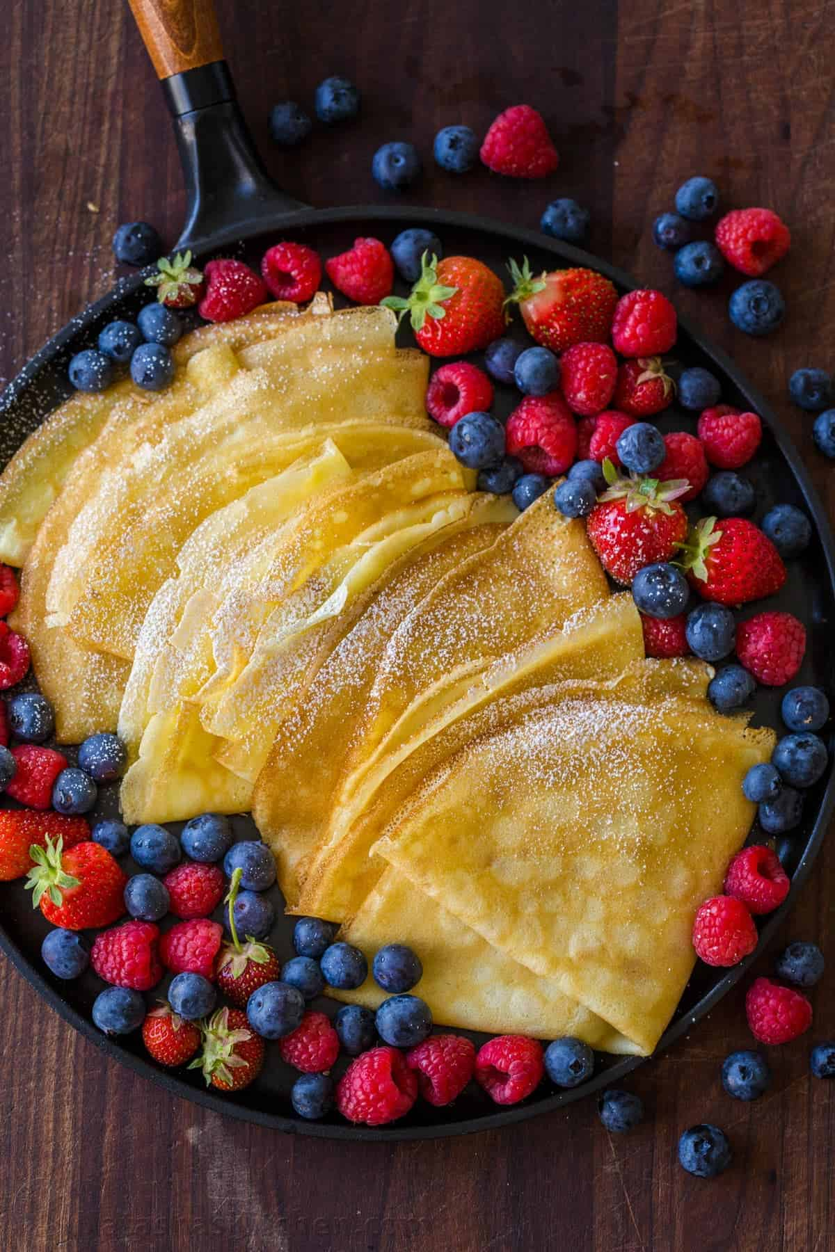 Easy Crepe Recipe Video Natashaskitchen Com