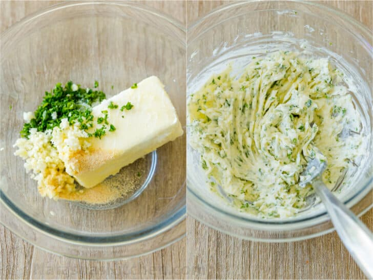 How to make garlic herb butter in bowl