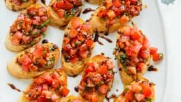 Italian Tomato Bruschetta on a platter
