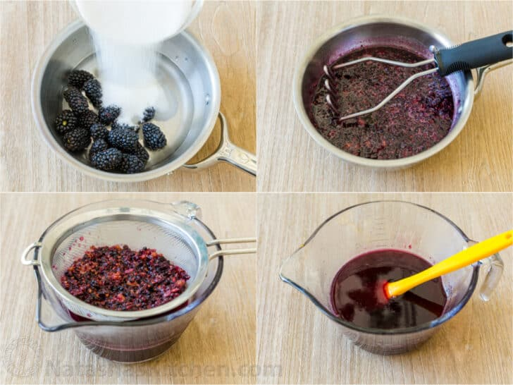 How to make blackberry syrup for limeade
