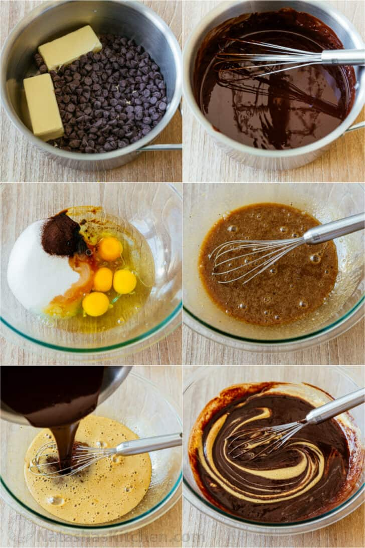 Step by step tutorial how to make brownies