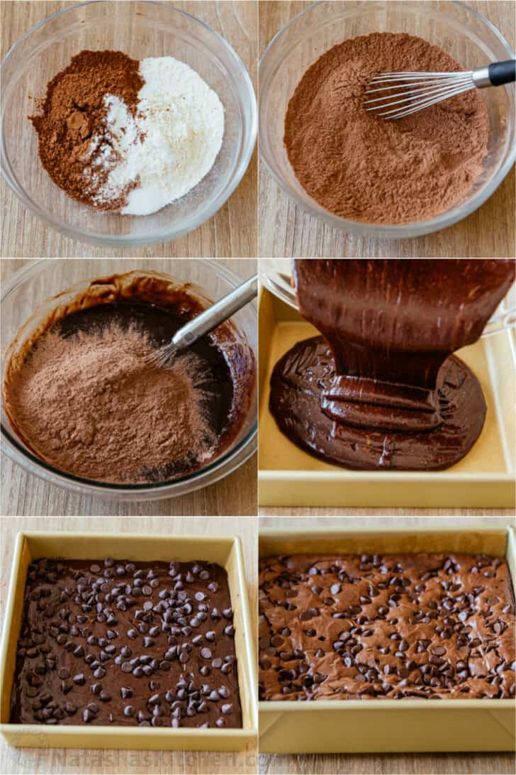 how to make chocolate brownie batter step by step photos