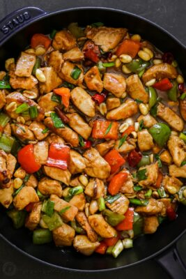 Kung Pao Chicken in skillet