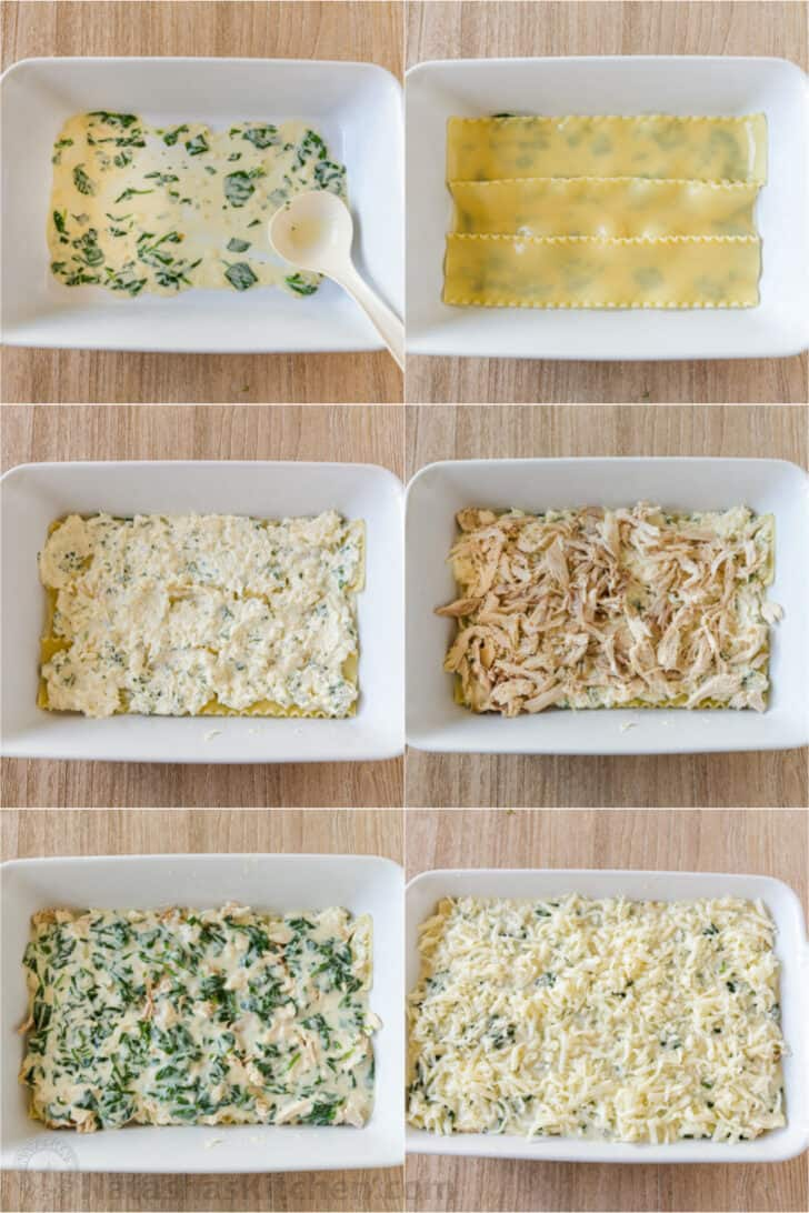 Assembling lasagna step by step photos