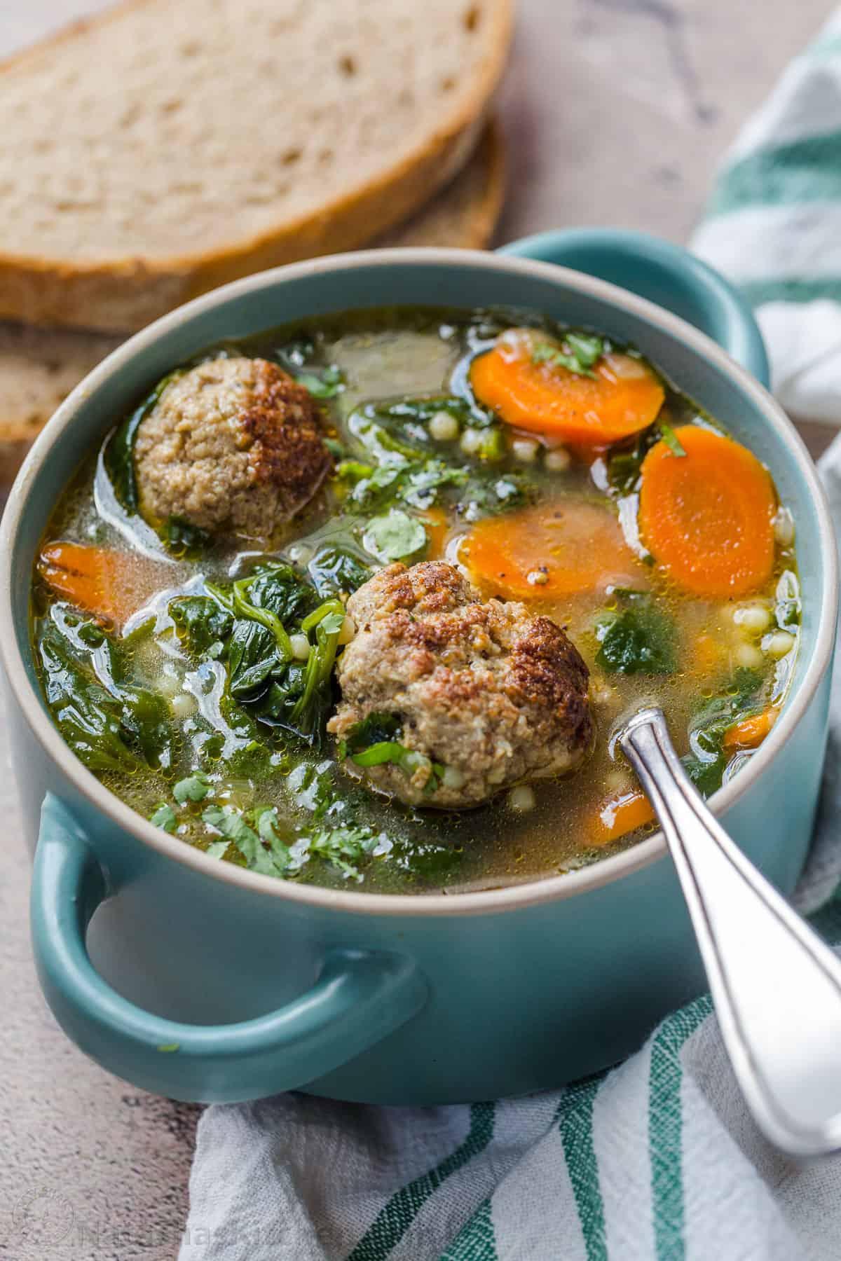 Italian Wedding Soup - Grandmas Simple Recipes