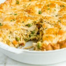 Chicken Pot Pie Recipe in Pie pan