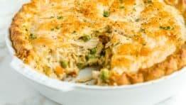 Chicken Pot Pie Recipe in Pie pan