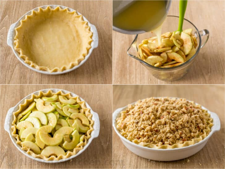 How to make apple crumb pie step by step photos
