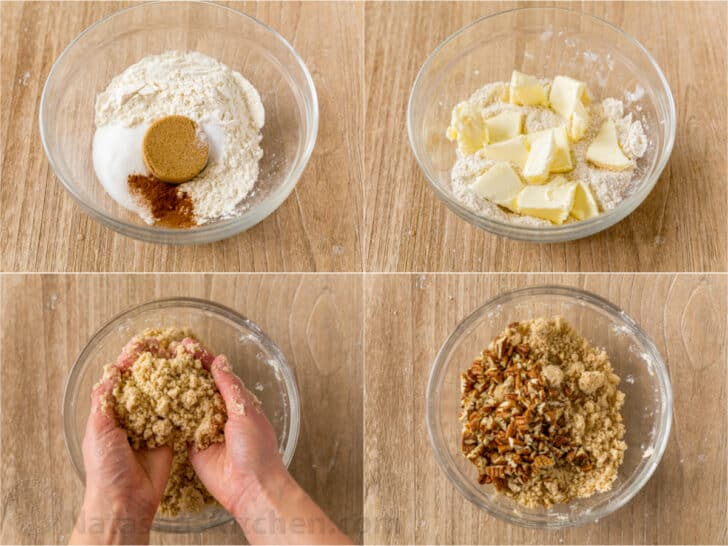How to make apple crumb topping for pie.