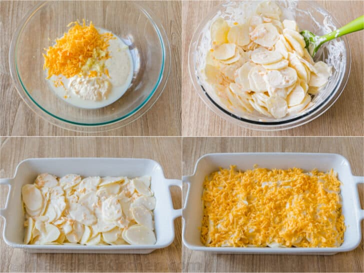step by step how to make scalloped potatoes