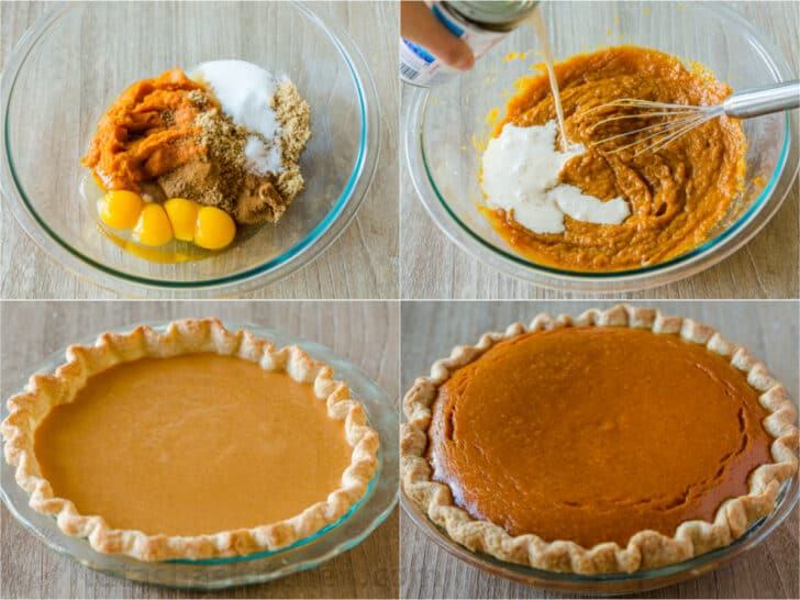 Step by step how to make pumpkin pie recipe