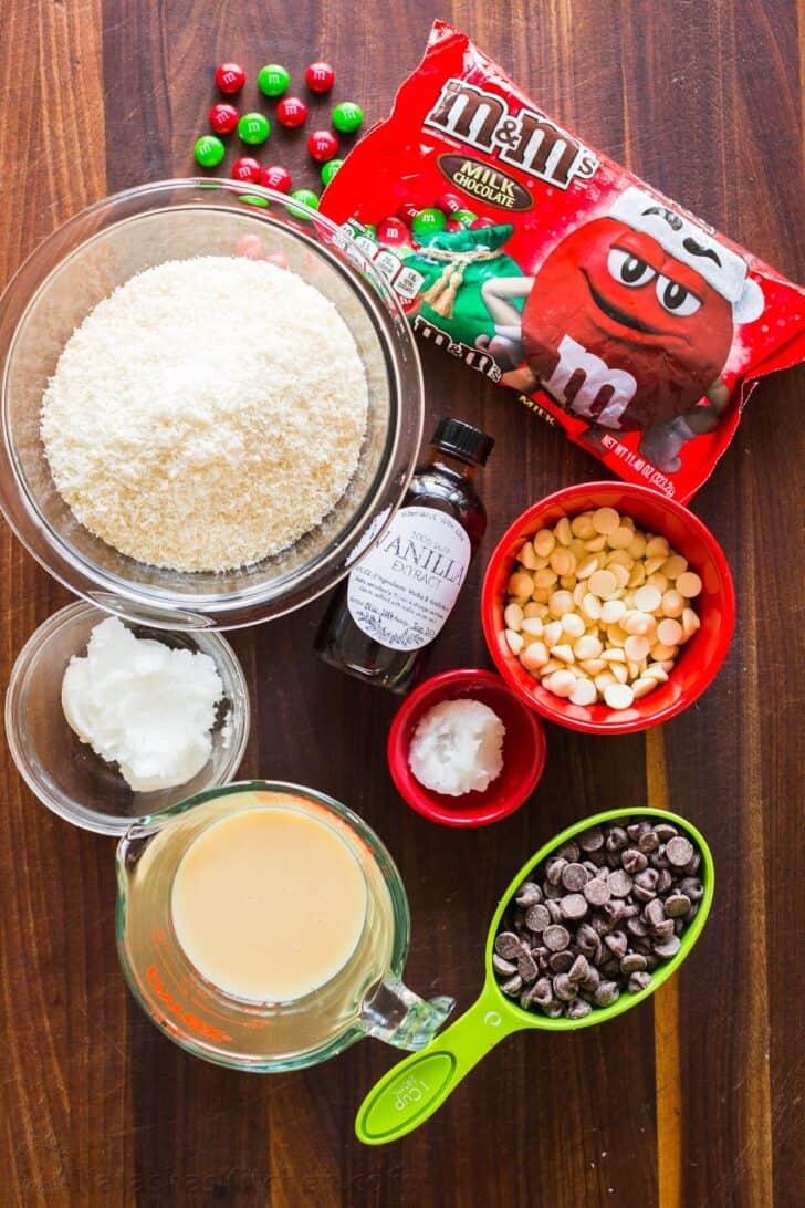 Ingredients for coconut balls