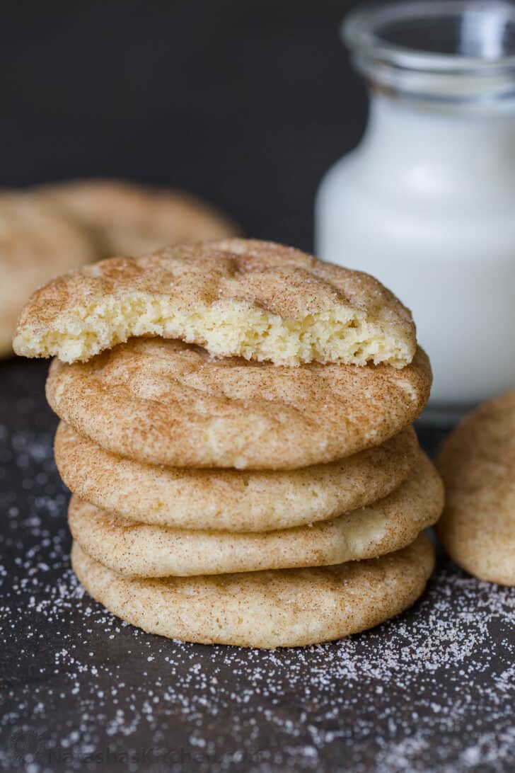 Snickerdoodle with a glass of milk