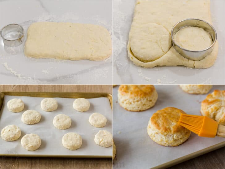 how to cut out biscuits and bake
