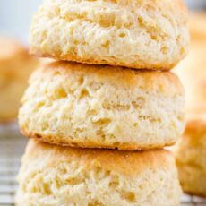 3 biscuits stacked