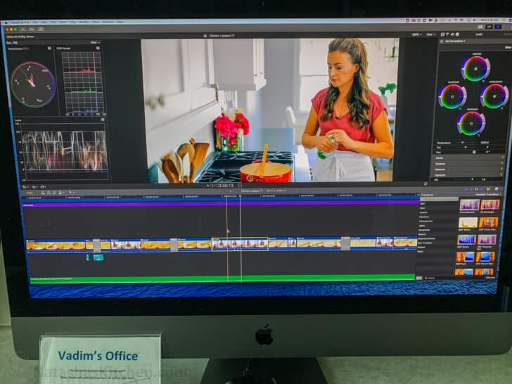 Video editing on computer screen