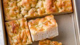 Focaccia bread recipe in pan
