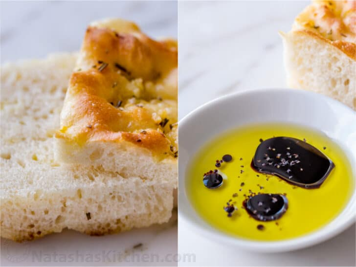Serving focaccia bread for sandwiches or as a side with dip