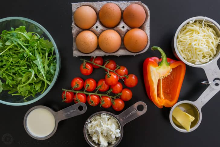 ingredients for frittata recipe