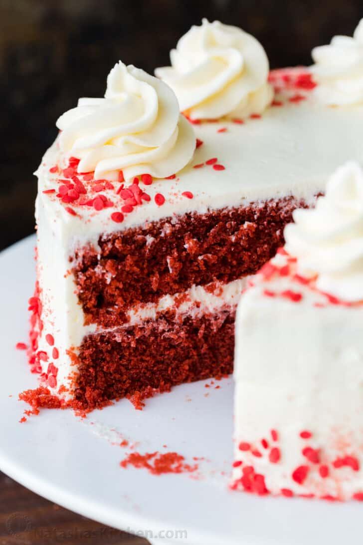Leftover cake on platter
